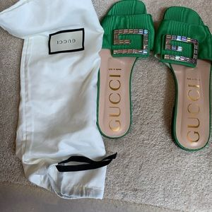 Gucci Shoes - Gucci embellished slippers